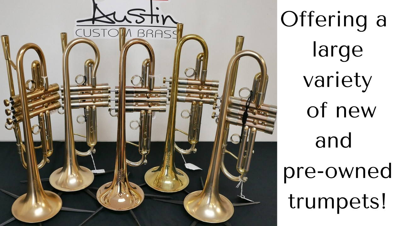 Offering new and pre-owned trumpets