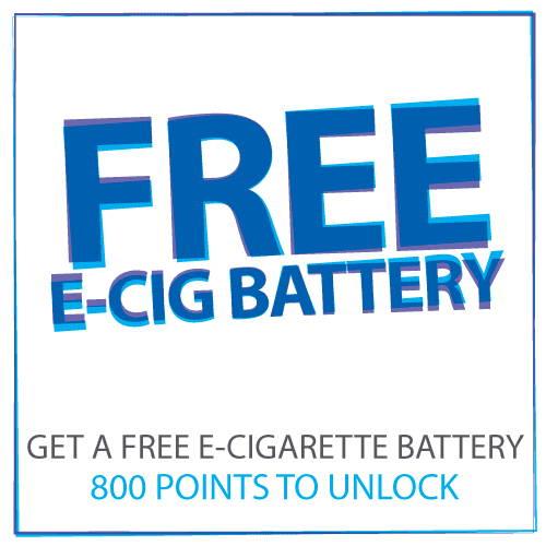 Kostenlose E-Cig-Batterie, wenn Sie 800-Punkte erreichen