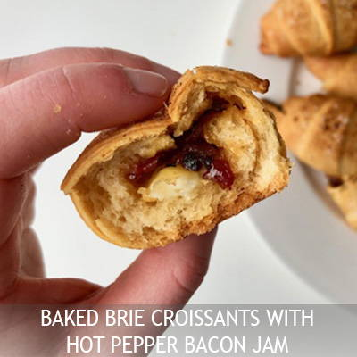 Nut House Baked Brie Croissants with Bacon Jam