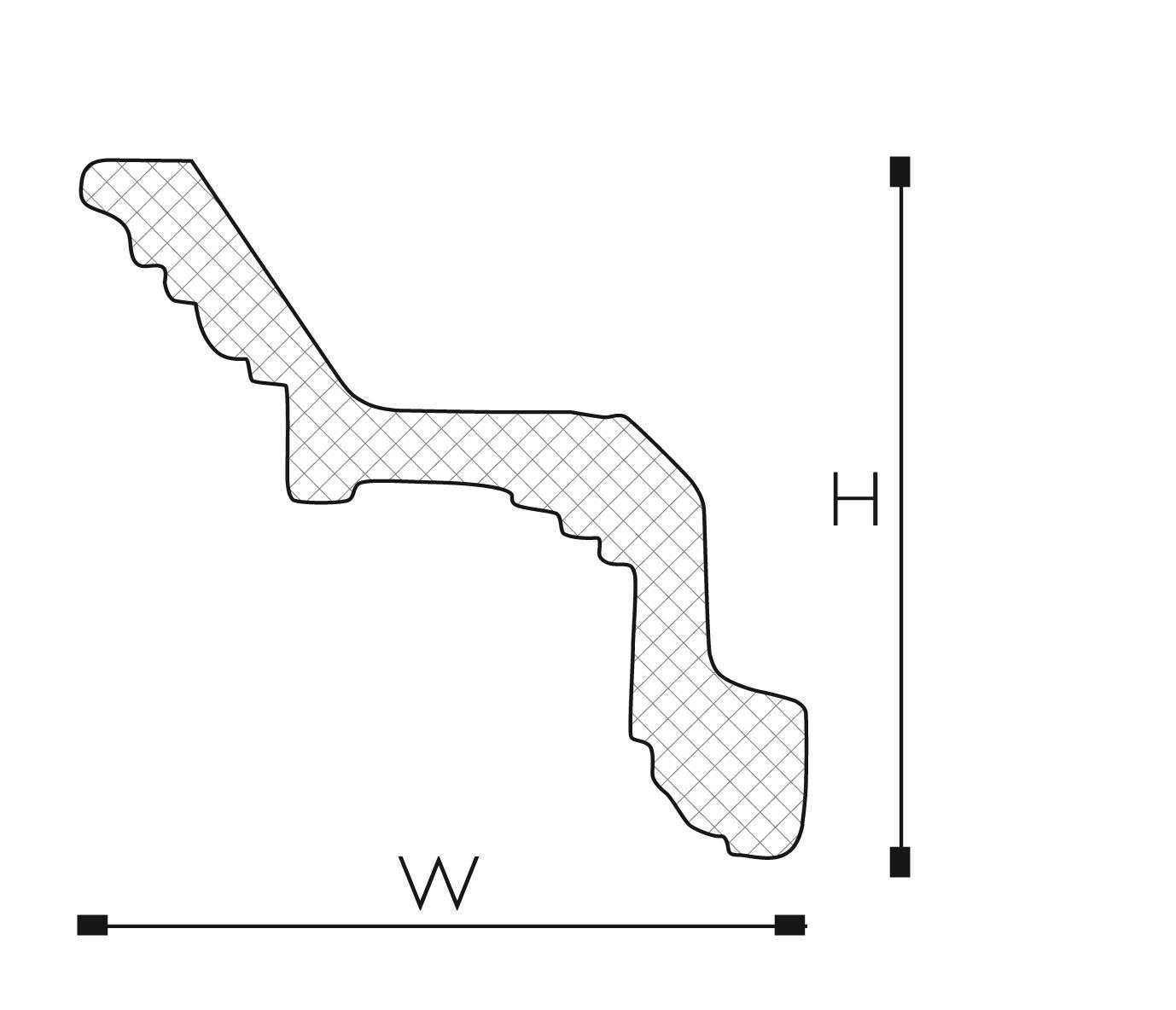 SASKIA 2.44M COVING