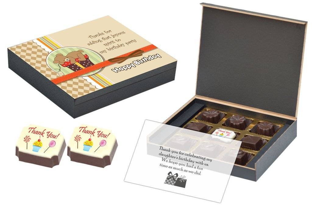 customised return gift for birthday with 9 chocolate box