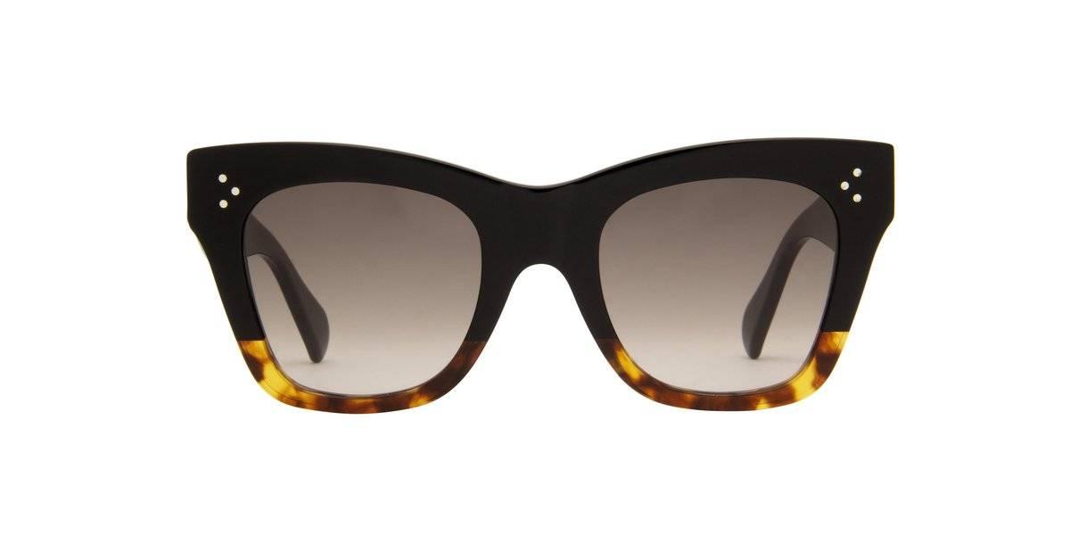 Shop the Black to Havana Gradient/Grey Square Women Sunglasses