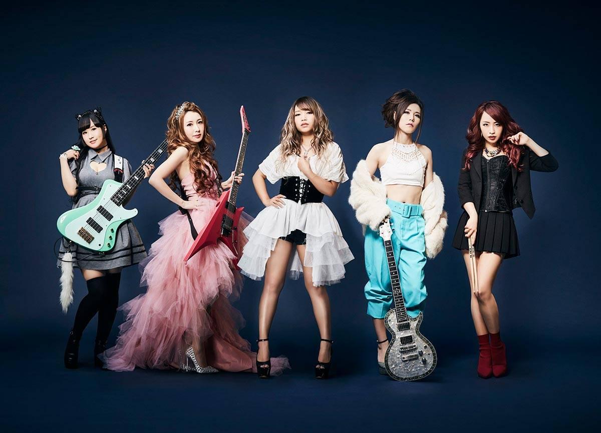 Aldious band. Japanese girl metal band