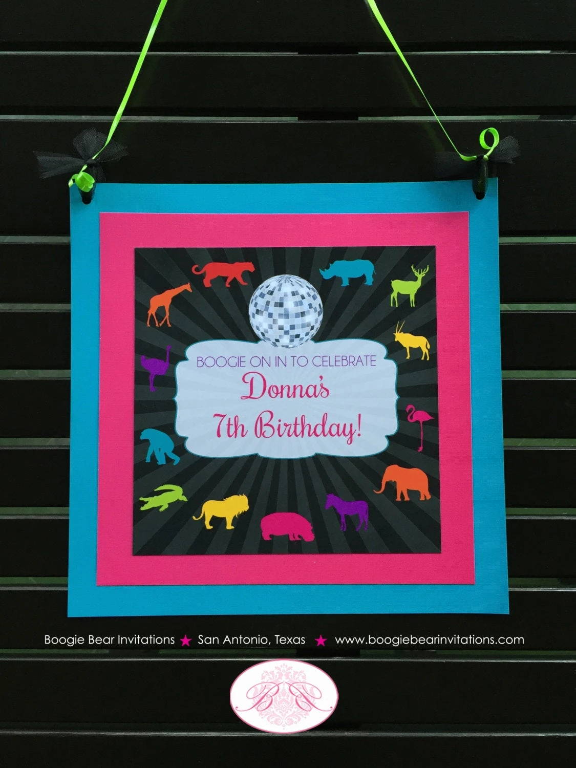 Wild Animal  Disco Door Banner  Donna Theme