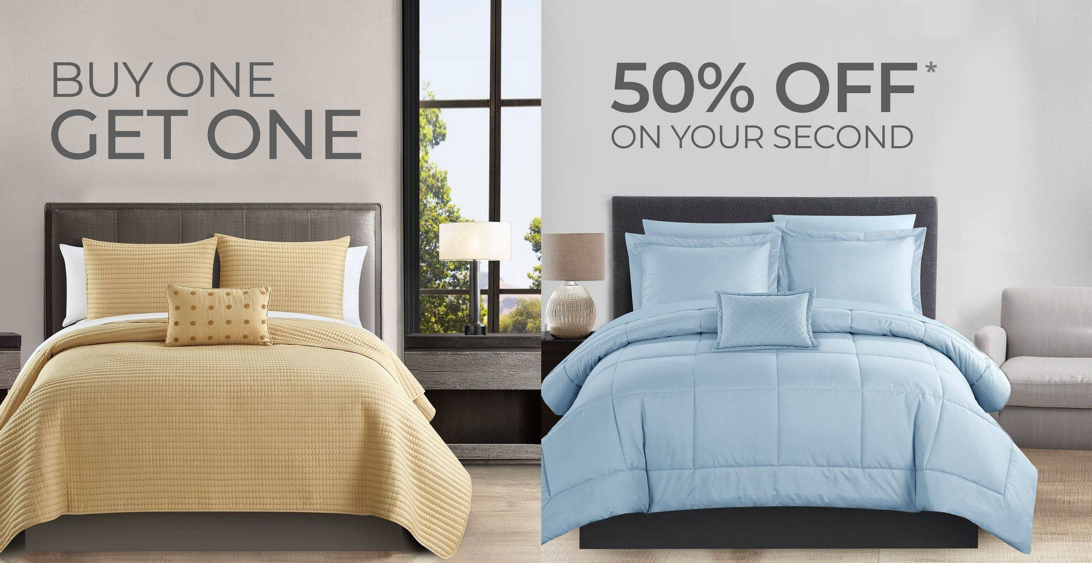 Banner image of two bedding sets for BOGO Sale
