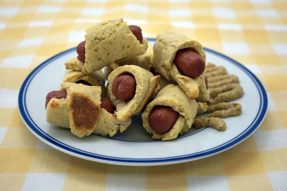 Make gluten-free pigs in a blanket