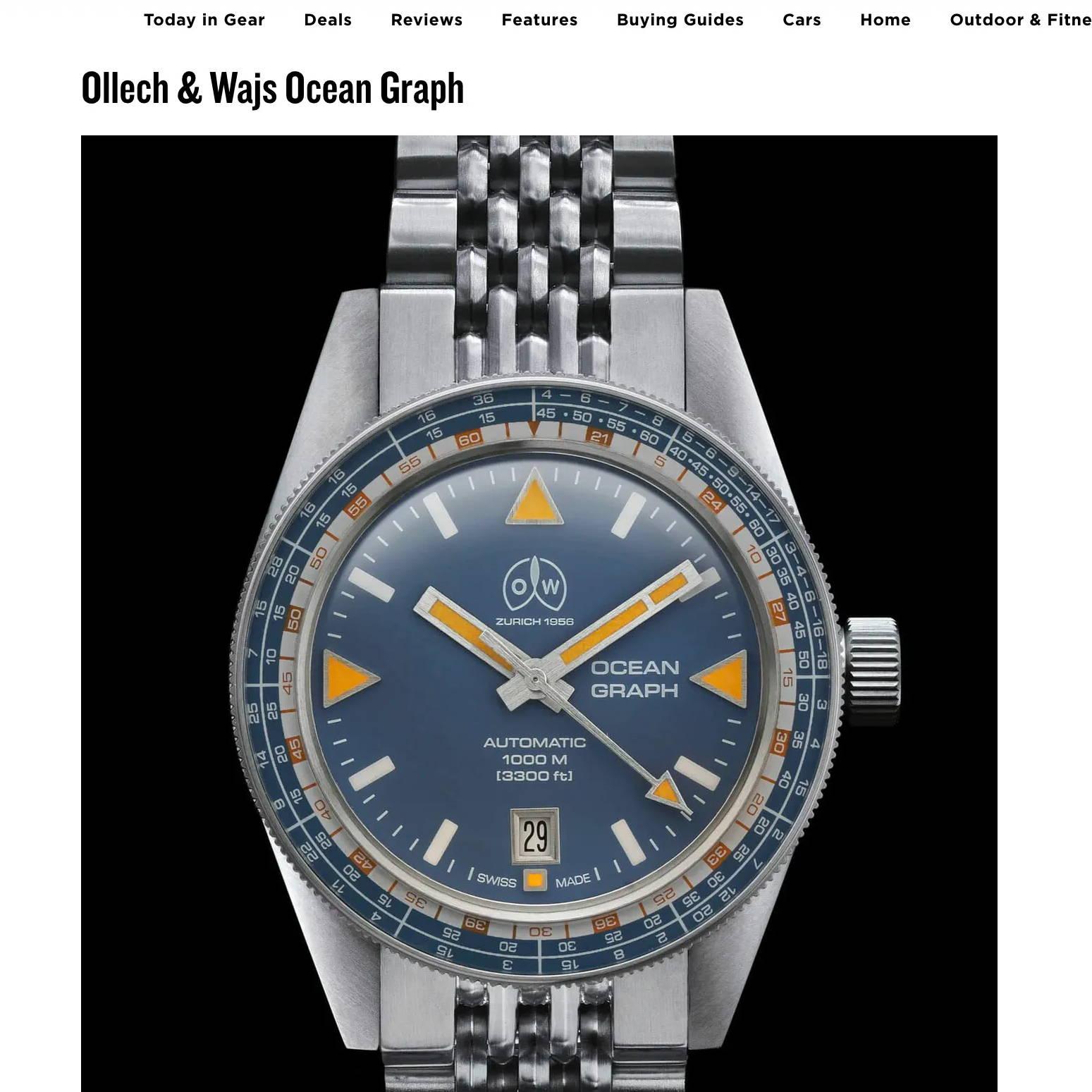 Gear patrol ollech and wajs ocean graph