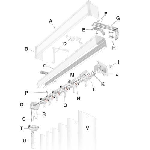 Vertical Blind Diagram Fix My Blinds Inc