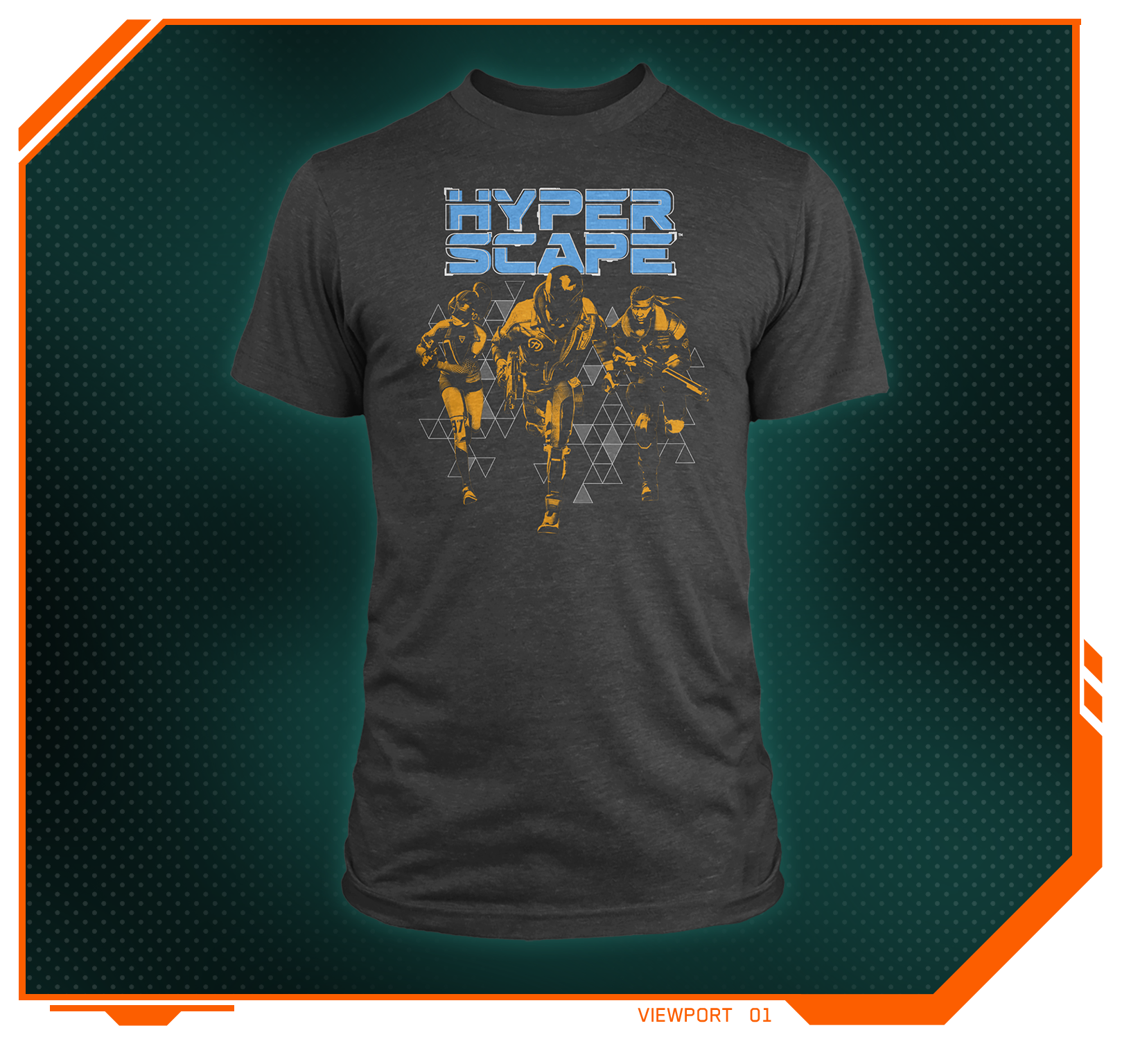 Stylized product image of the Hyper Scape Team Running Premium Tee