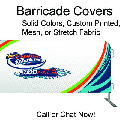 Custom Barricade Covers & Barrier Jackets