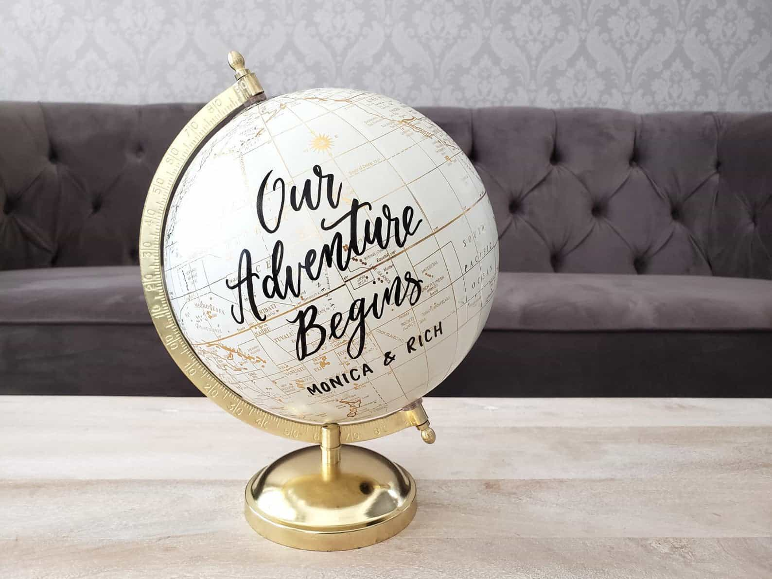 Globe Wedding Guest Book