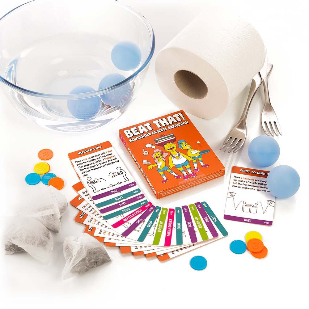 Beat That! household objects expansion pack example challenges