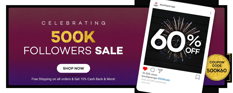 500K Sale 60% off