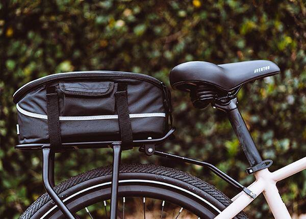 pace 500 ebike with rack and rack top bag