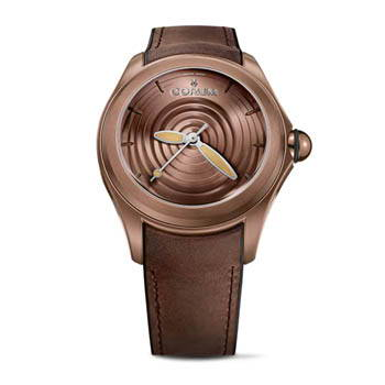 Chocolate brown watch with brown leather wristband