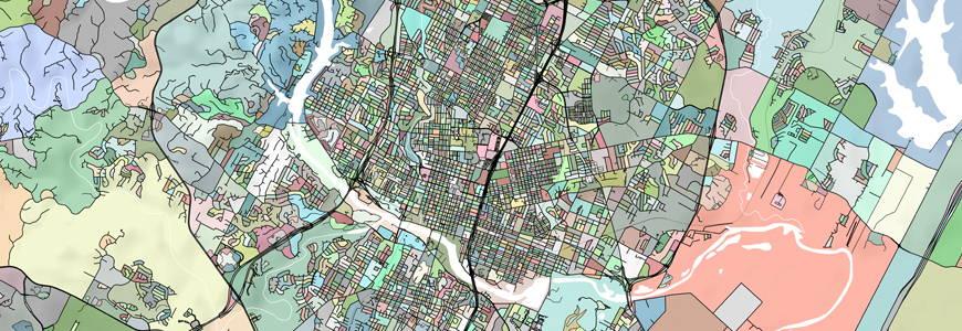Austin map print