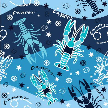 Horoscope Astrology Sorority Fabric