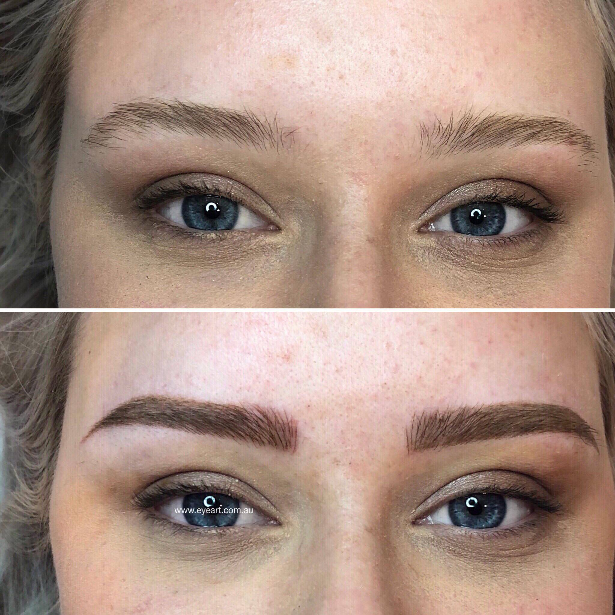 Eyebrow Tattooing, Cosmetic Tattooing, Eyebrow Feathering Melbourne