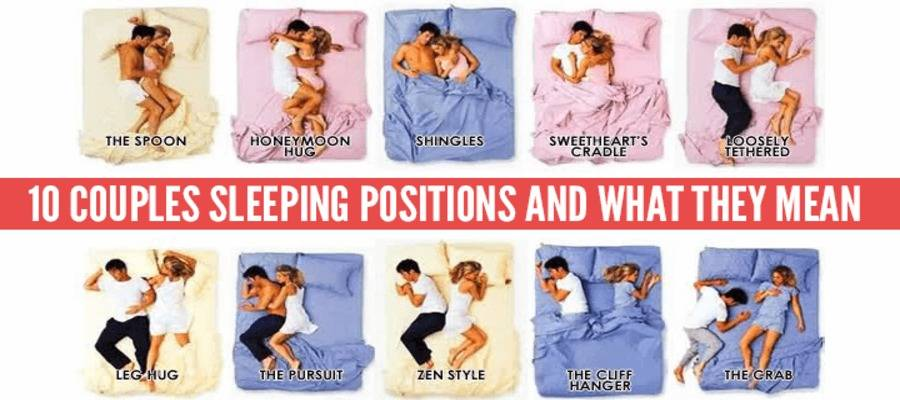 10 Common Sleeping positions of Couples