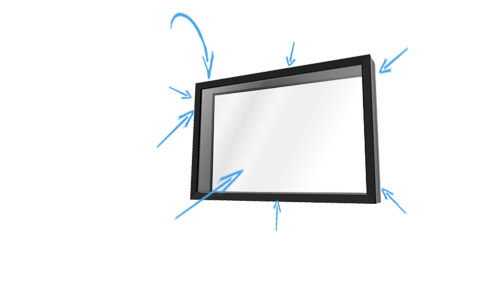 The TV Shield PRO Lite Indoor TV Screen Protector Diagram Schematic