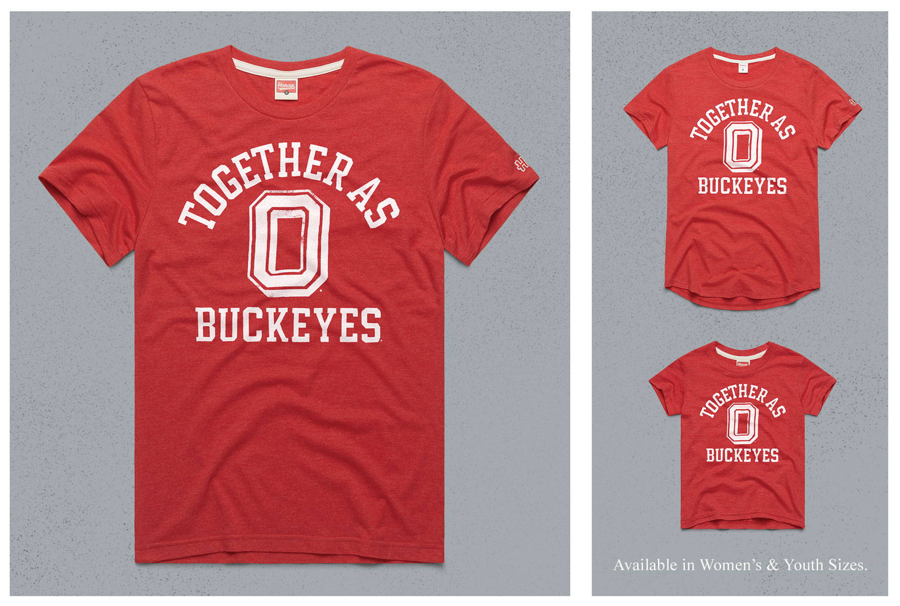 HOMAGE x OSU Together As Buckeyes collection.