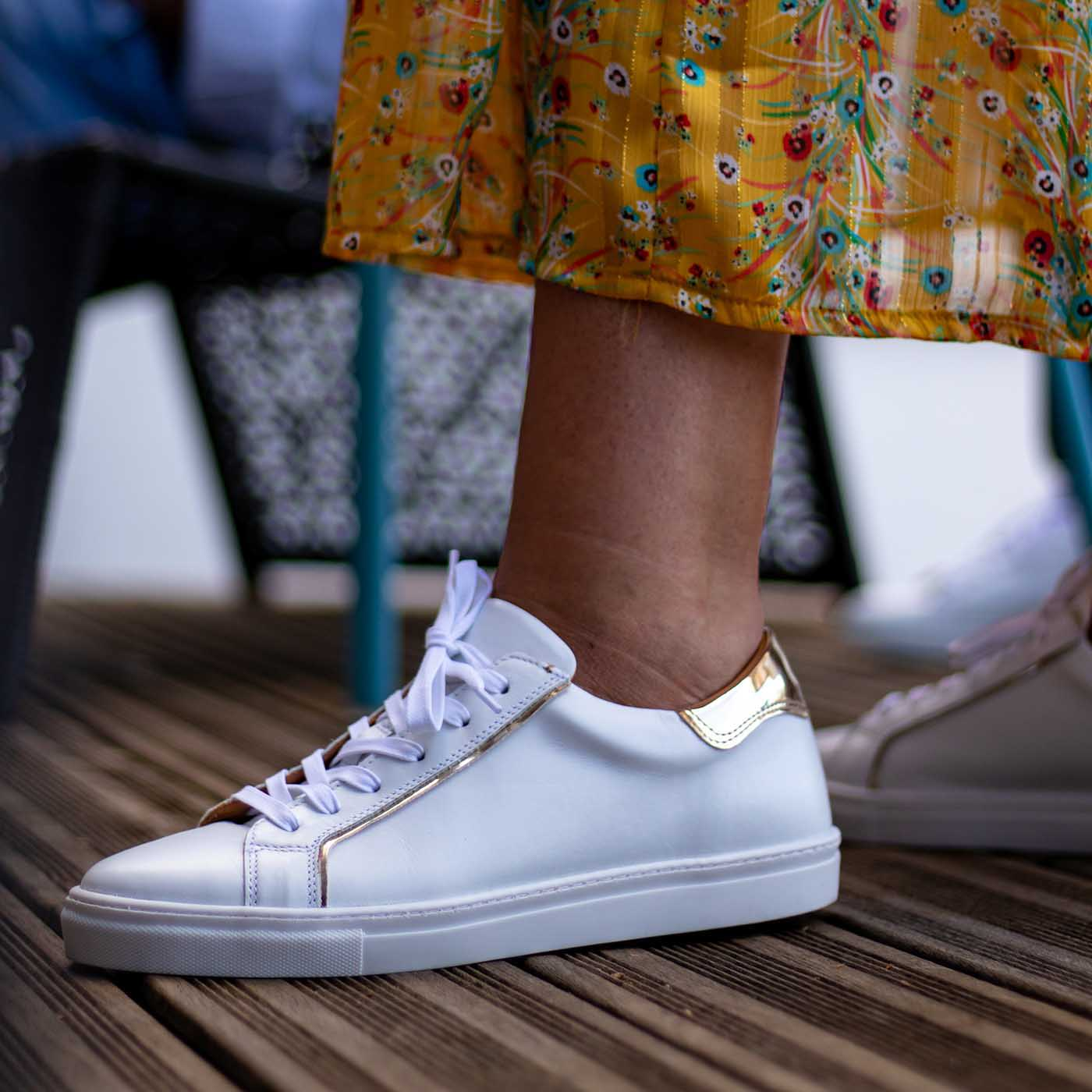 Sneakers femme adaptée avec semelles orthopédiques