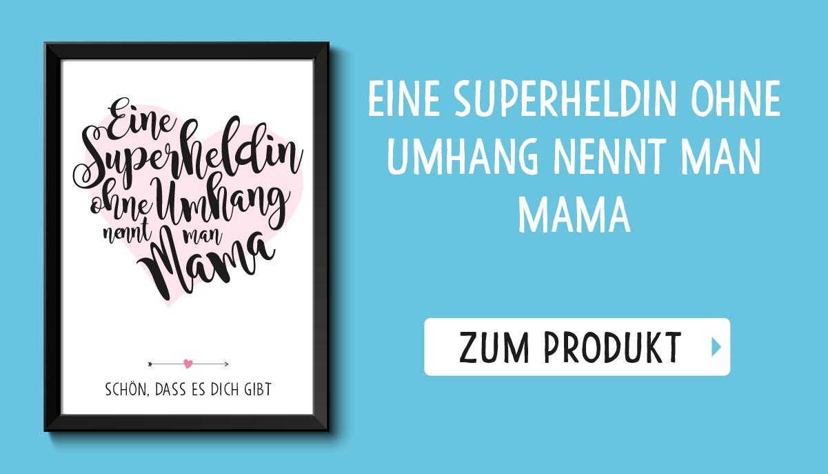 Muttertag Bestseller Bild Superheldin Mama