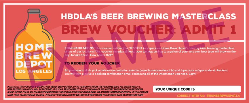 Beer brewing experience gift voucher