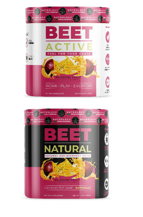 Beet Active and Beet Natural product graphic front