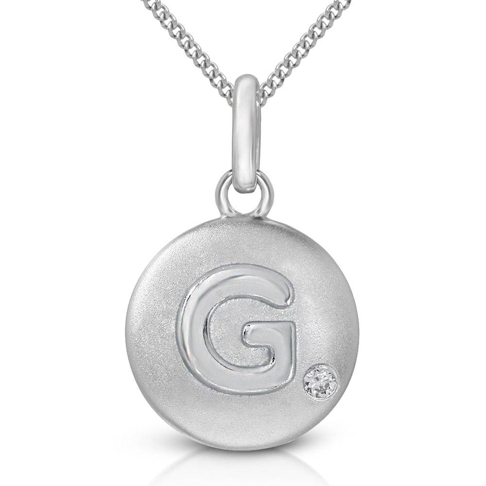 Pure at Birth letter G pendant with curb link necklace