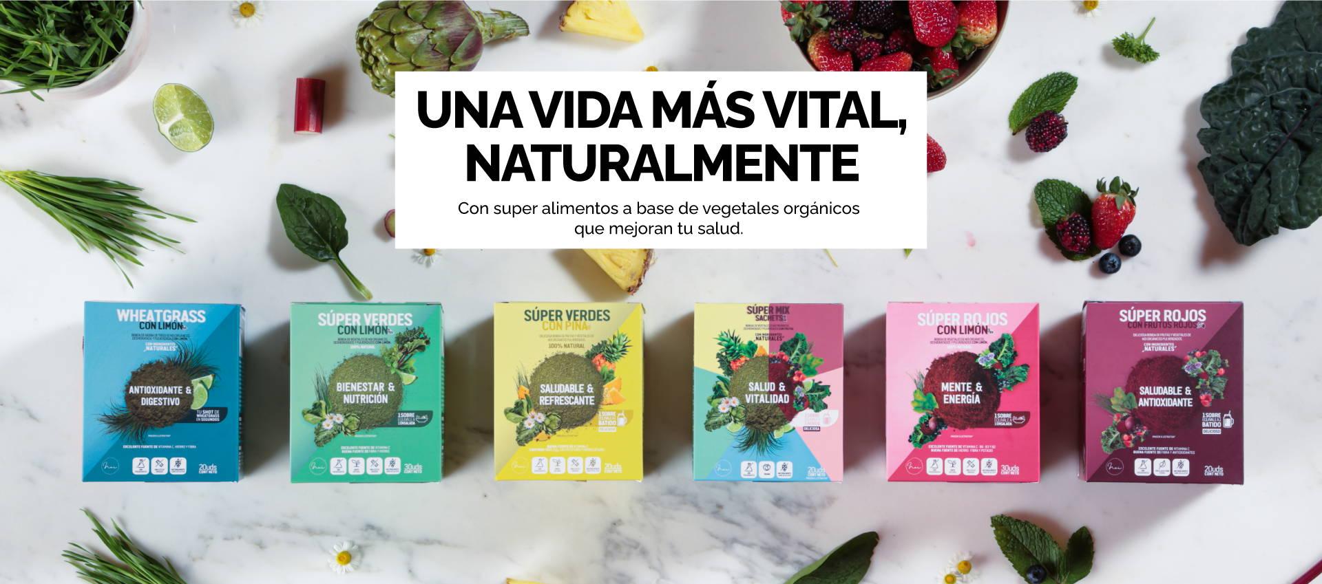 super alimentos a base de vegetales organicos