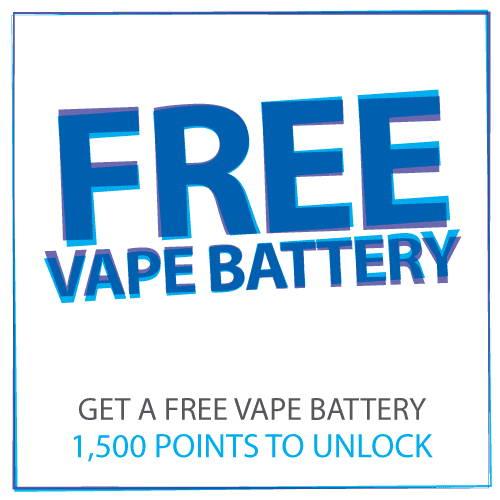 Kostenlose Vape E-Zigarette Batterie, wenn Sie 1500 Punkte erreichen
