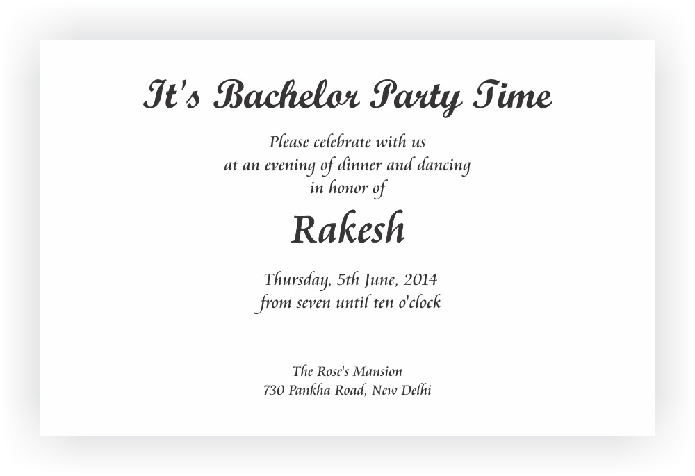 Bachelor Party Invitation Chococraft