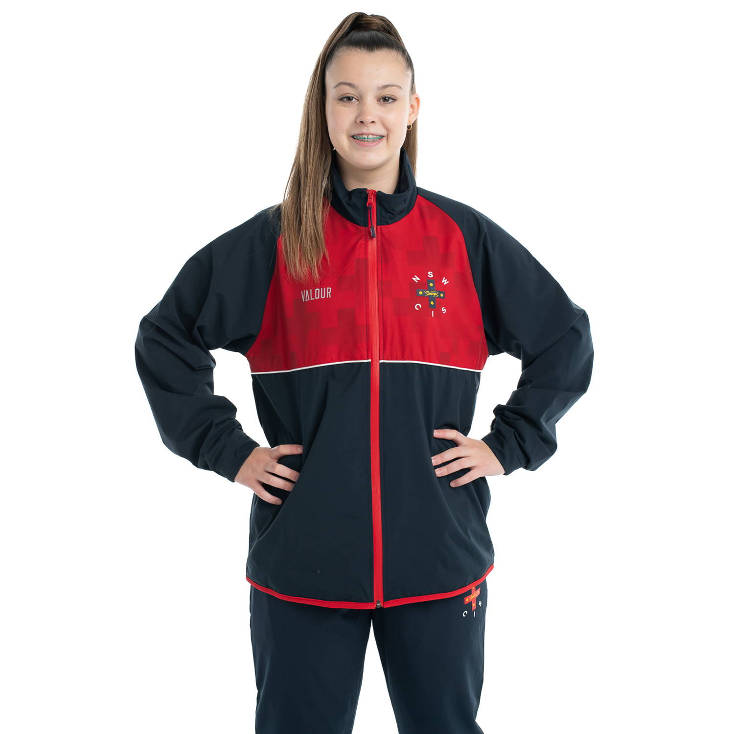 Netball tracksuit jacket front