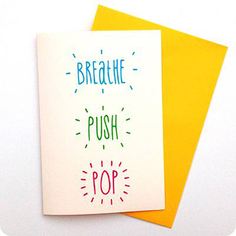 Breathe Push Pop Card