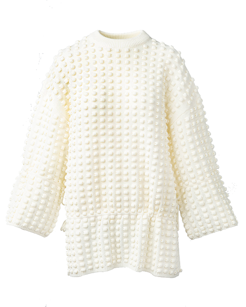 White Unique Sweater  | Holiday Gift Guide | J.ING