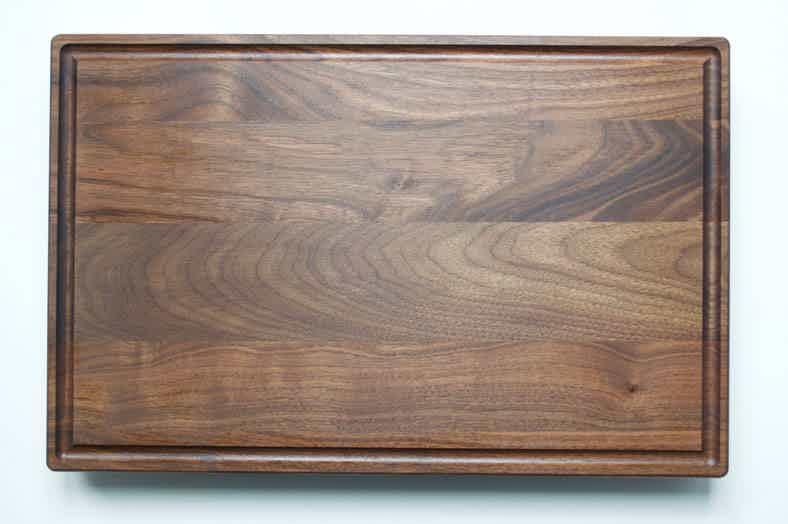 fully seasoned walnut wood cutting board  ready for use