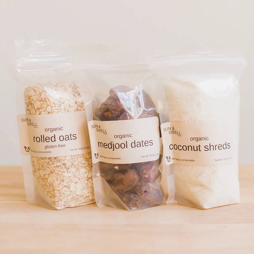 Sun & Swell Foods Pantry Staples In Compostable Packaging - Best Sellers