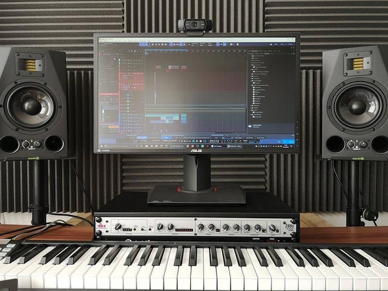 Acoustic Foam in a Home Recording Studio
