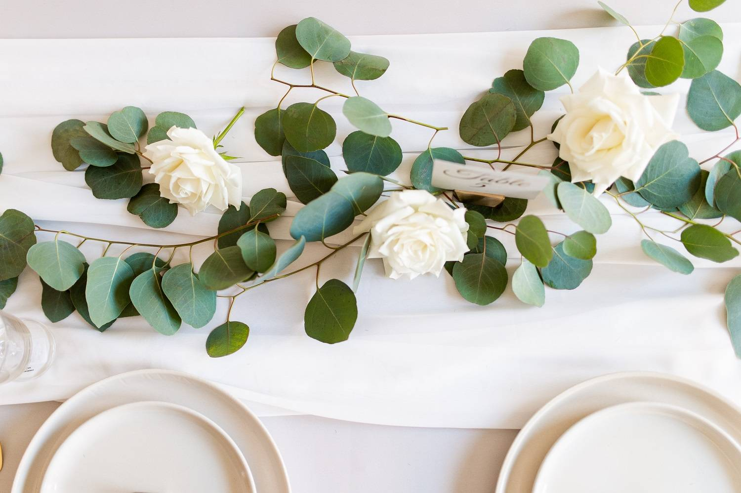 Table with Greenery and Roses