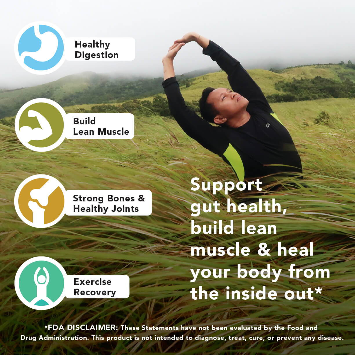 Collagen Peptides For gut health, healthy digestion, build lean muscle, strong bones and healthy joints.