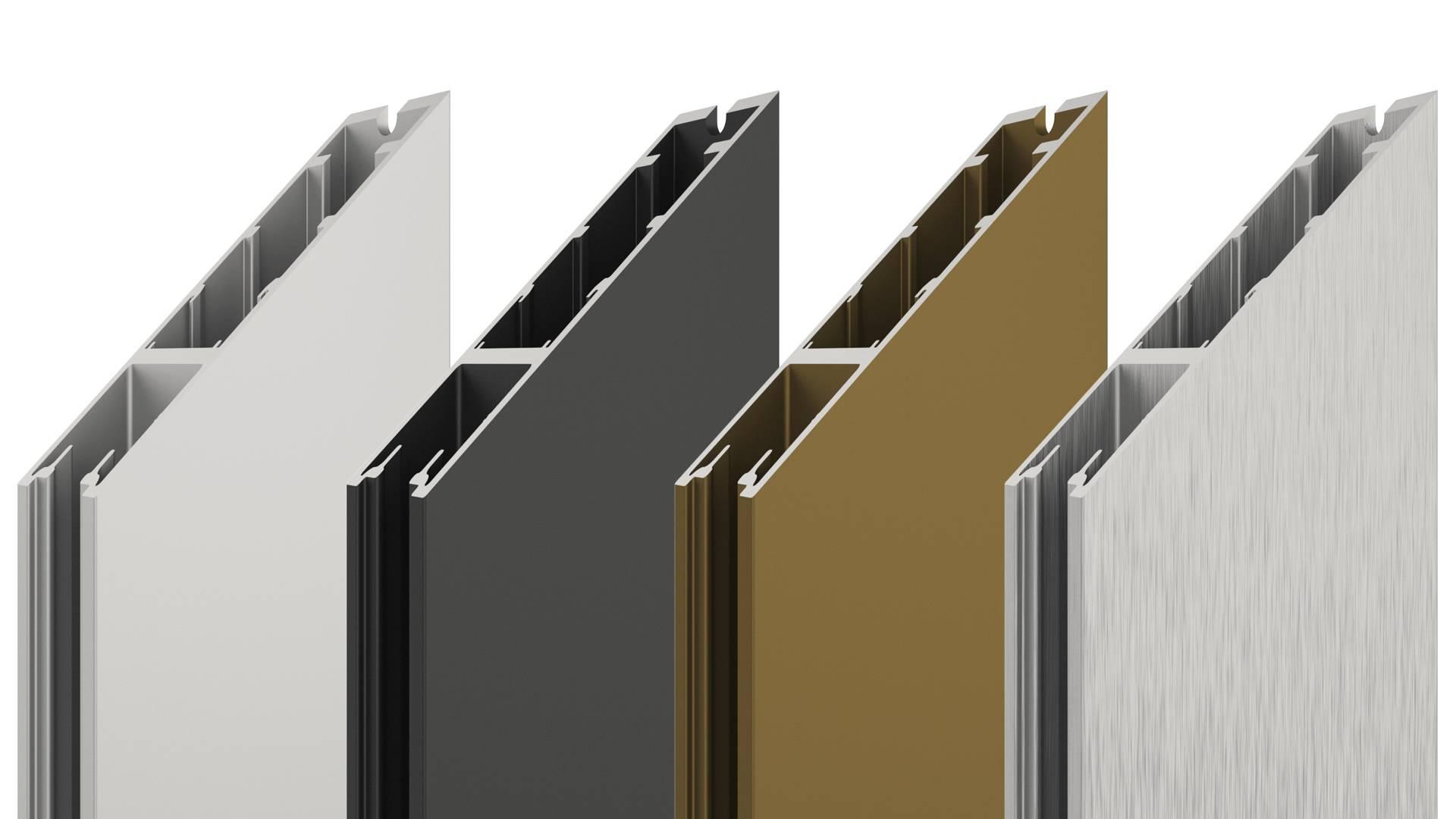 Portapivot 6530 anodized aluminium colours