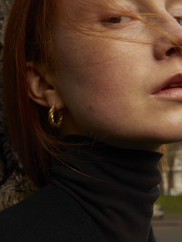 Completedworks Deep State hoop earrings