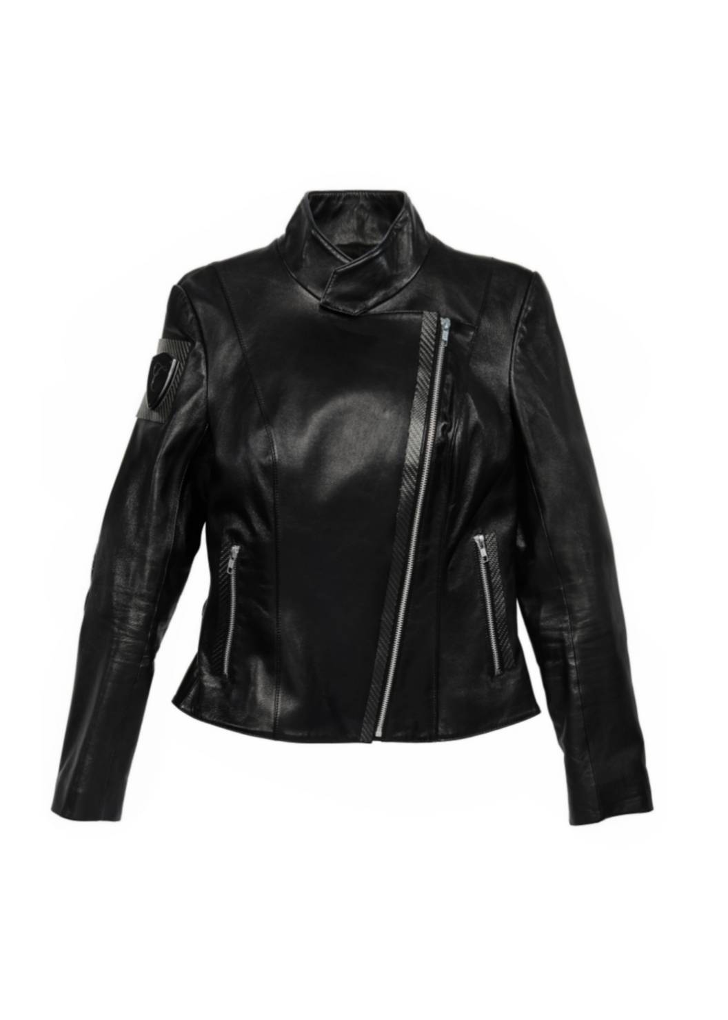 Carbonesque womens doux-moto leather jacket