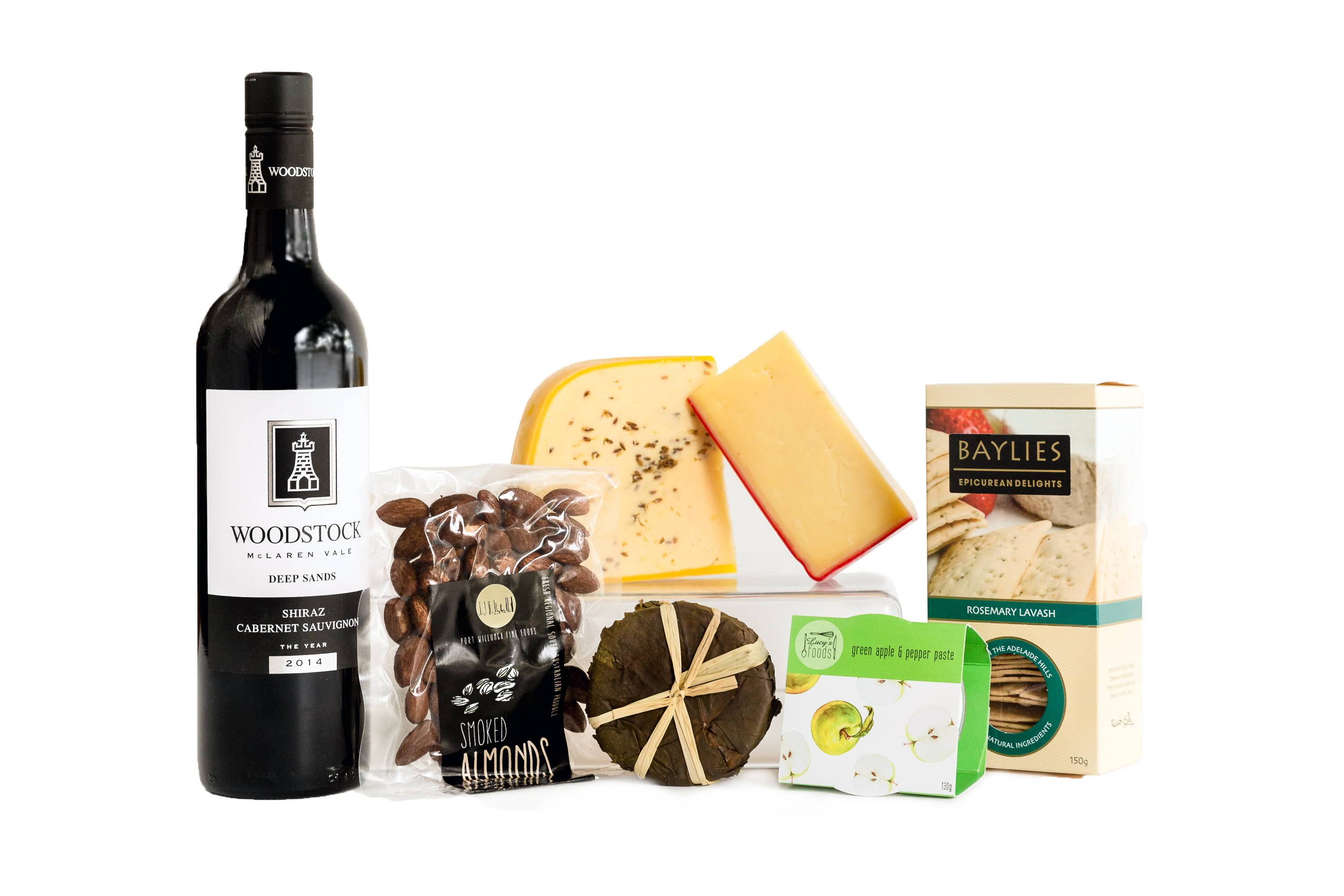 Cheese and red wine hamper