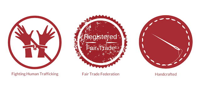 Stop slavery, fair trade and handcrafted icons
