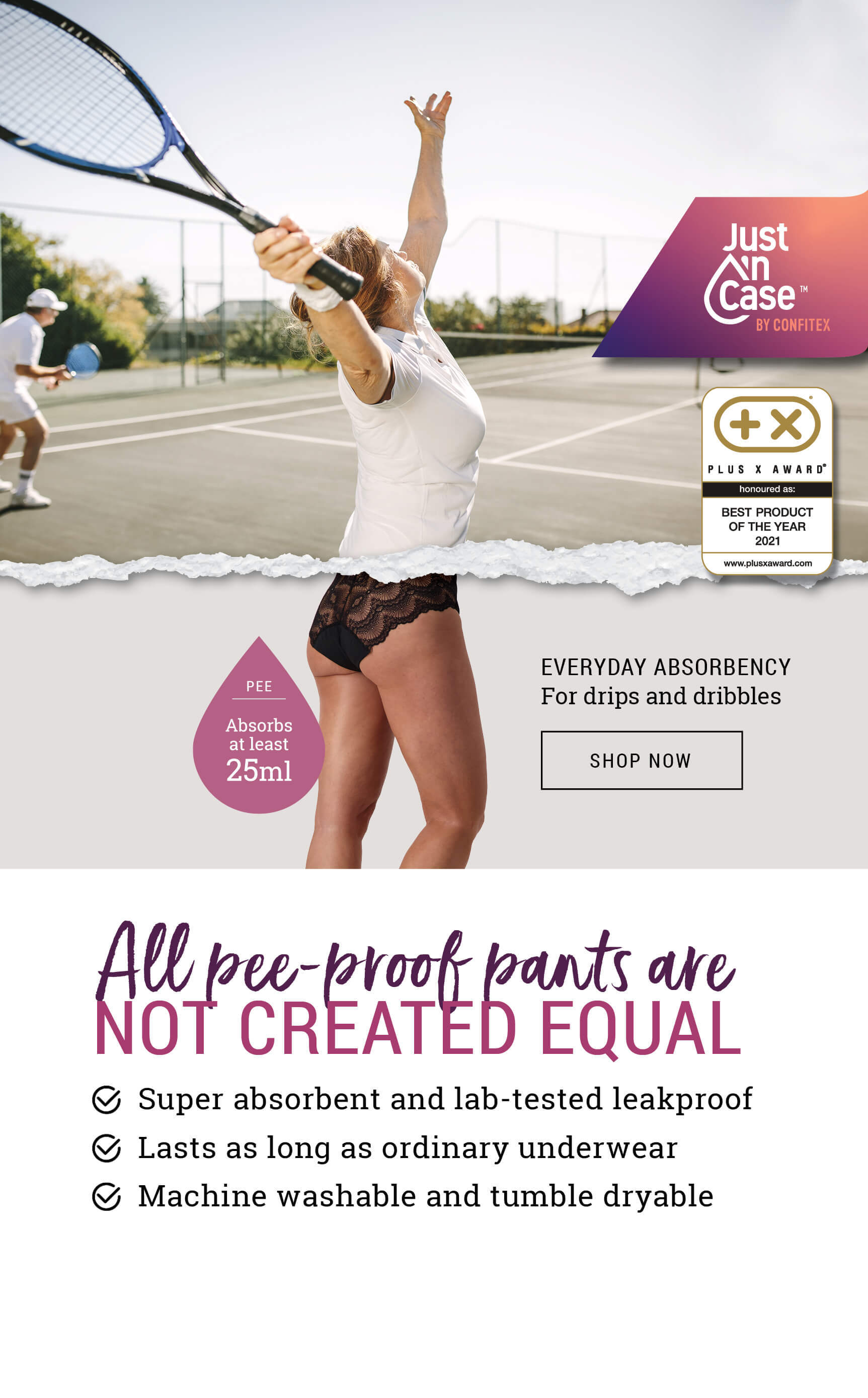 pee-proof underwear - features and benefits