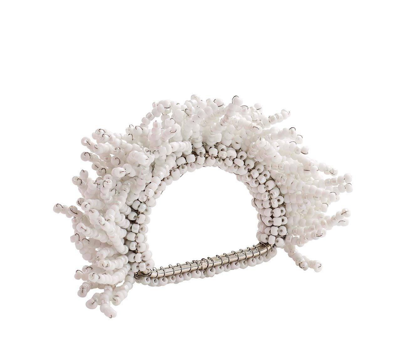 CARNIVAL NAPKIN RING IN WHITE