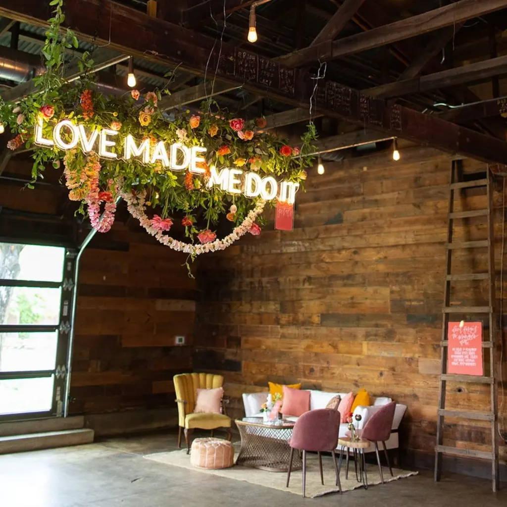 Brite Lite wedding neon signs love made me do it neon sign