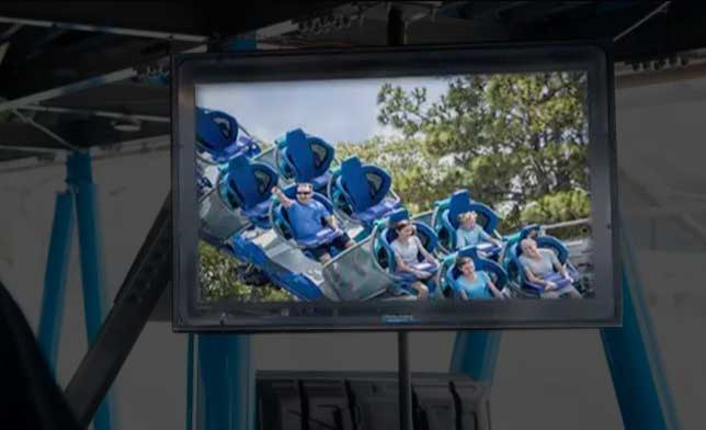 The Park Roller Coaster Outdoor Digital Signage and TV Display Case for Ride Line
